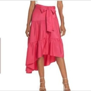 Eliza J Tiered High Low Skirt